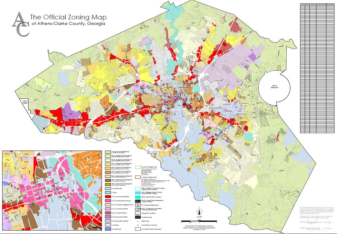 athens zoning map