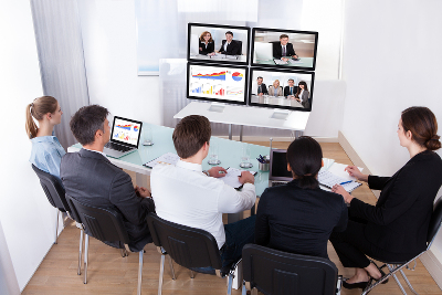 online meeting Group Of Businesspeople